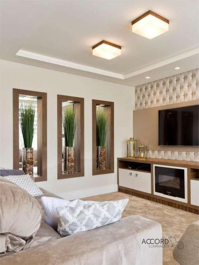 4. Lustre plafon quadrado para sala de estar – Foto Accord Iluminação