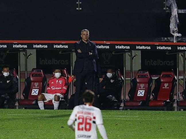 Crespo falou sobre condição física do elenco do São Paulo (Foto: Rubens Chiri/São Paulo FC)