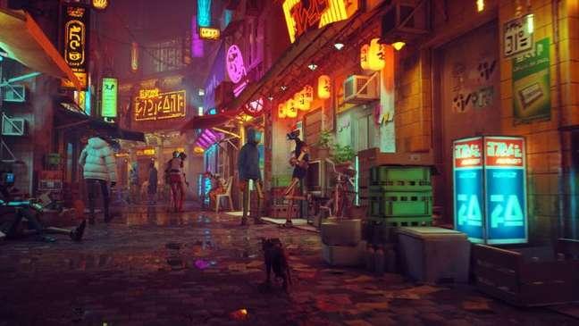 Stray coloca o jogador na pele de um gato cyberpunk