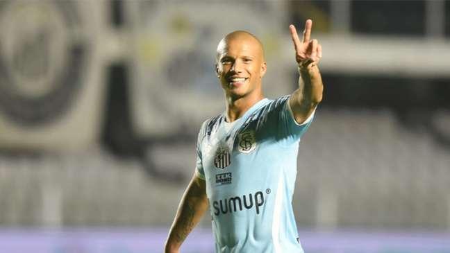 Carlos Sánchez entrou para a história do Santos (Foto: Ivan Storti/Santos FC)