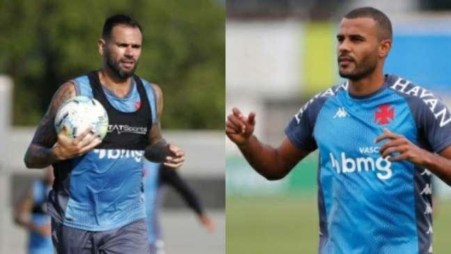 Leandro Castan e Ernando formam a atual dupla de zaga do Vasco (Montagem LANCE!; Rafael Ribeiro/Vasco)