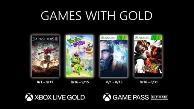 Games do Live with Gold de agosto