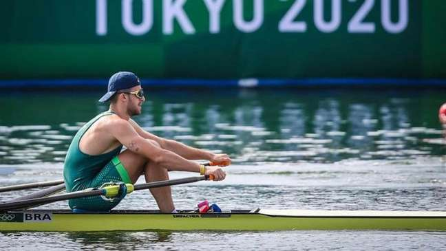 Lucas Verthein alcança melhor resultado da história do Brasil no skiff simples, nos Jogos Olímpicos (Foto: COB)