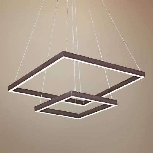 30. Lustre quadrado pendente para decoração moderna – Foto Lampsplus