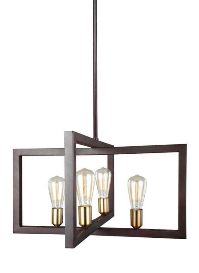 13. Lustre quadrado com luminária criativa – Foto Ever lights