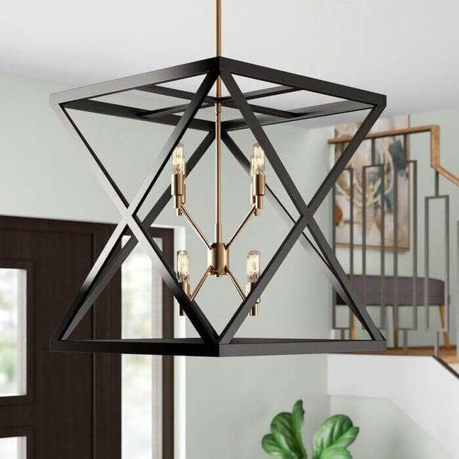 14. Lustre quadrado criativo moderno para decoração – Foto Wayfair