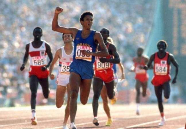 Joaquim Cruz nas Olimpíadas de Los Angeles (Foto: AFP PHOTO)