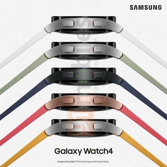 Samsung Galaxy Watch 4 pode ter várias opções de cores