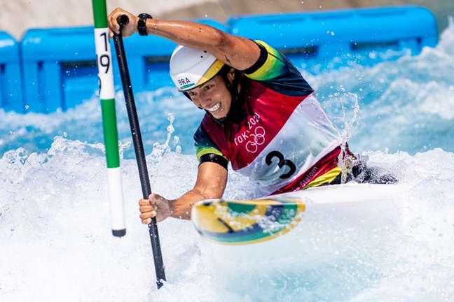Ana Sátila nesta quinta-feira durante competição nos Jogos Olímpicos de Tóquio Gaspar Nóbrega/COB