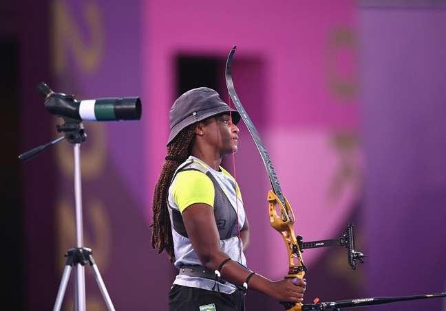 Ane Marcelle dos Santos durante competição nesta quinta-feira nos Jogos Olímpicos de Tóquio Clodagh Kilcoyne/Reuters