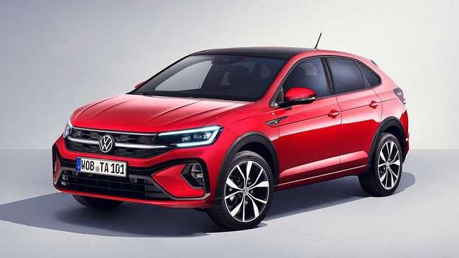 Volkswagen Taigo: barra de led na grade dianteira.
