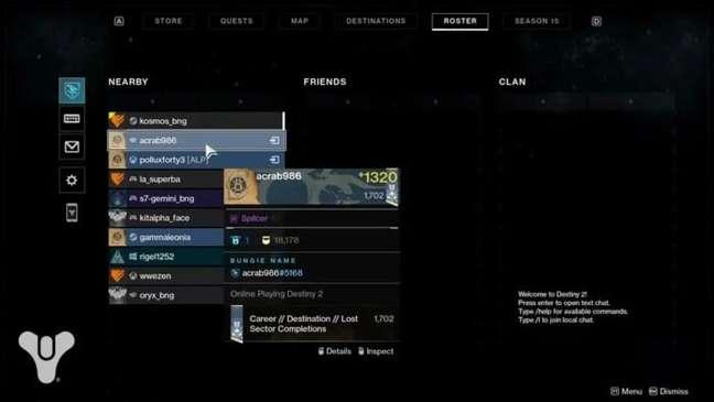 Jogadores de Destiny 2 serão identificados pelo Nome Bungie a partir da Temporada 15