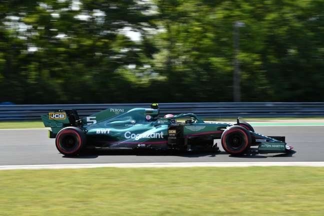 Sebastian Vettel gostou do desempenho do carro nesta sexta-feira na Hungria