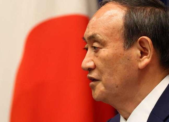 O primeiro-ministro do Japão, Yoshihide Suga