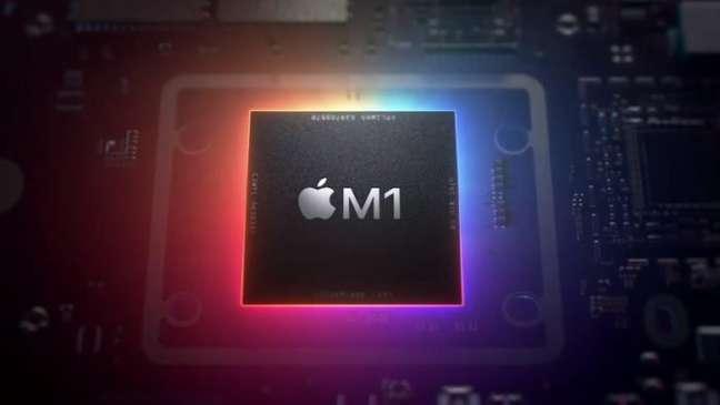 Chip Apple M1, que também é produzido na fábrica da TSMC