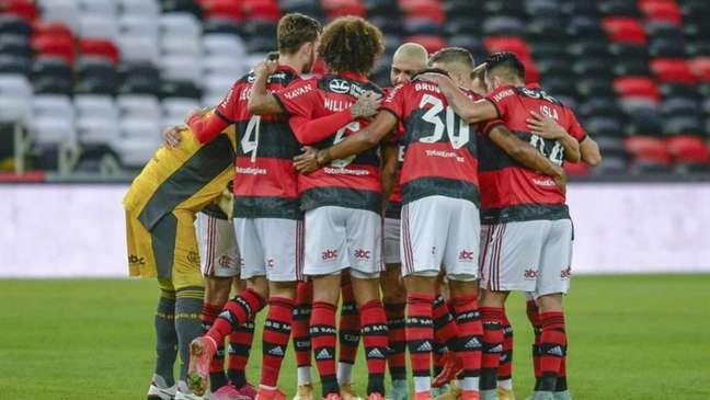 O Flamengo goleou o ABC por 6 a 0 (Foto: Marcelo Cortes / Flamengo)