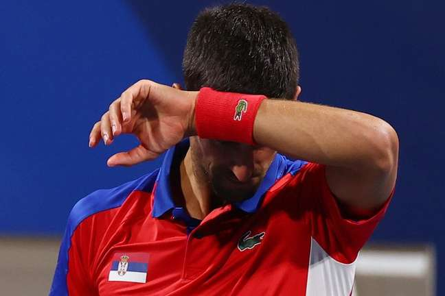 Djokovic no  Ariake Tennis Park 30/7/2021 REUTERS/Edgar Su