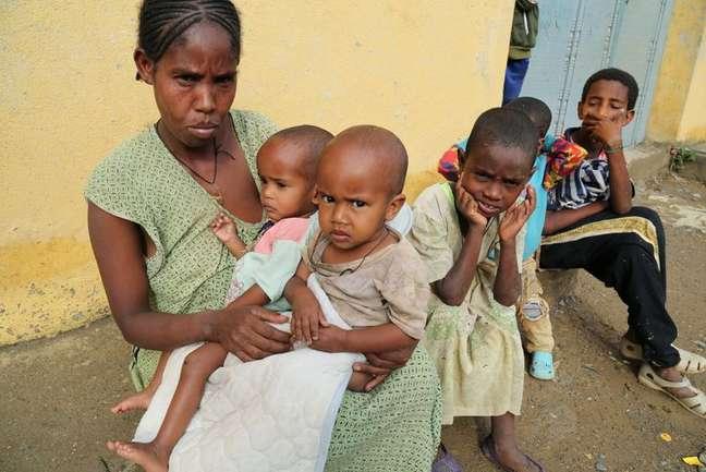 Crianças na região de Tigré, na Etiópia  11/7/2021   REUTERS/Giulia Paravicini