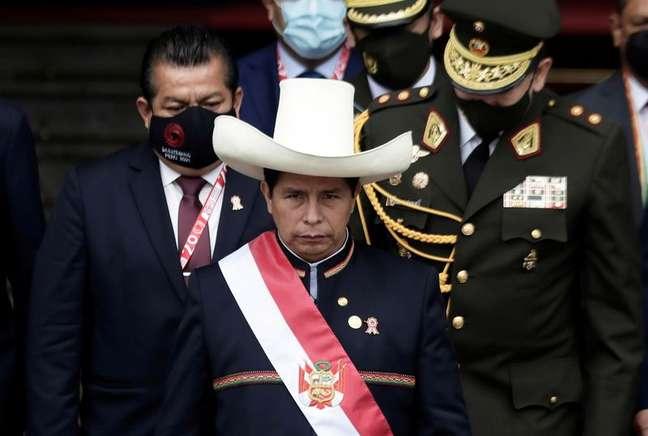 Presidente do Peru, Pedro Castillo  28/7/2021   REUTERS/Angela Ponce