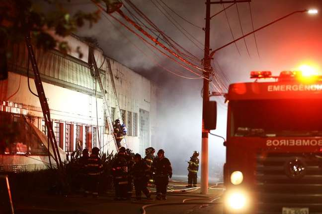 Incêndio na Cinemateca Brasileira, em São Paulo, Brasil 29/07/2021 REUTERS/Carla Carniel