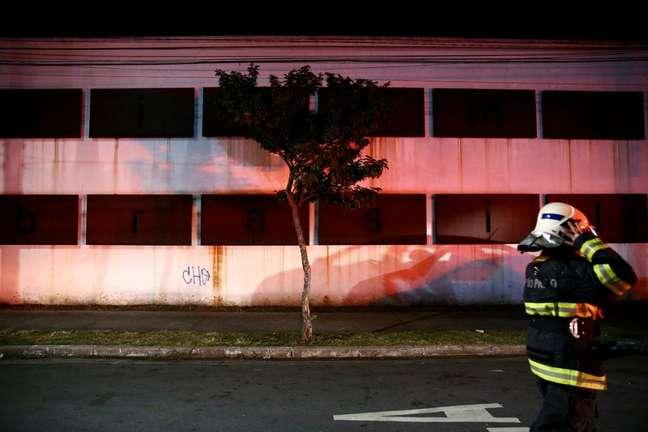 Incêndio na Cinemateca Brasileira, em São Paulo 29/07/2021 REUTERS/Carla Carniel