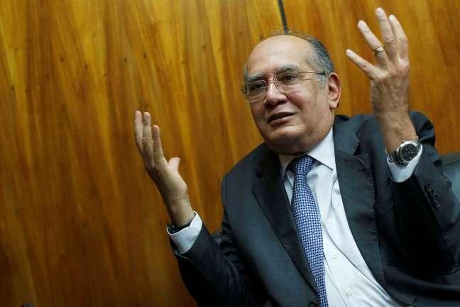 Gilmar Mendes, do STF, durante entrevista em Brasília REUTERS/Adriano Machado