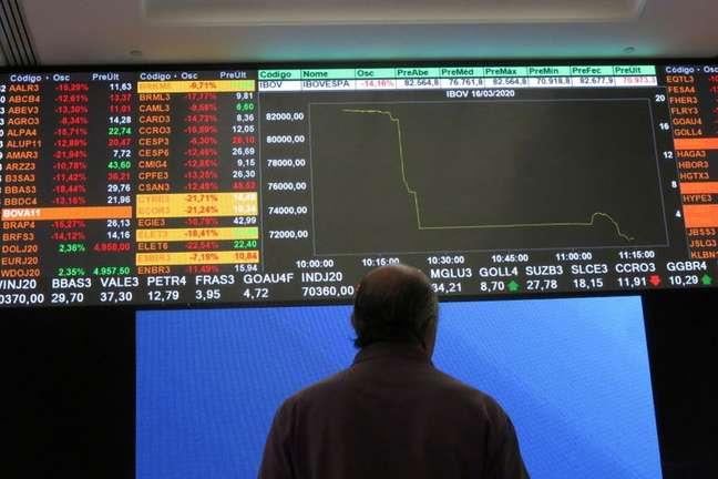 Bolsa de valores de São Paulo  16/03/2020 REUTERS/Rahel Patrasso