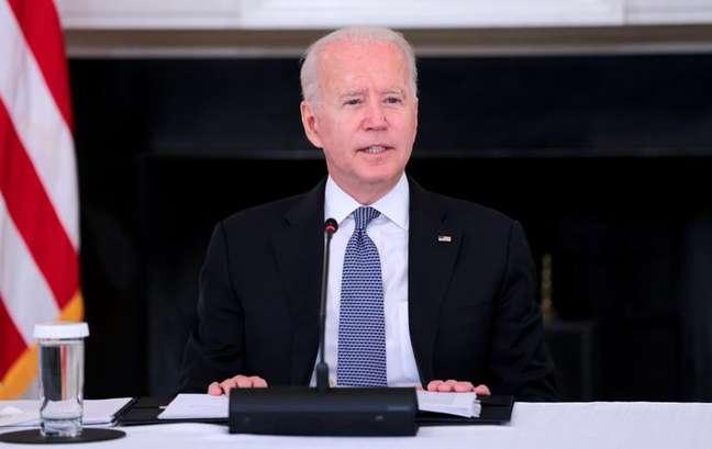 Presidente dos EUA, Joe Biden, durante encontro com líderes cubano-americanos na Casa Branca 30/07/2021 REUTERS/Evelyn Hockstein