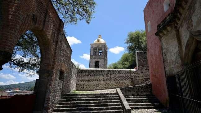 Conjunto franciscano do mosteiro e catedral de Nossa Senhora da Assunção em Tlaxcala, México