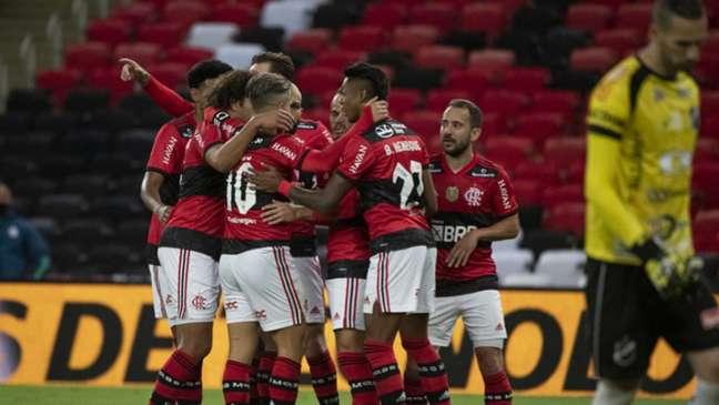 Flamengo goleou o ABC por 6 a 0 e encaminhou a vaga na Copa do Brasil (Foto: Alexandre Vidal / Flamengo)