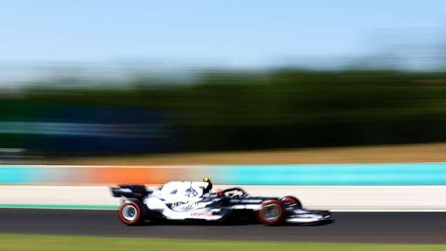 Pierre Gasly em ação na pista do Hungaroring, sede do GP da Hungria
