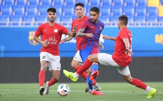 Matheus Pereira estreou com gol pelo Barça (Foto: Divulgação / Barcelona)