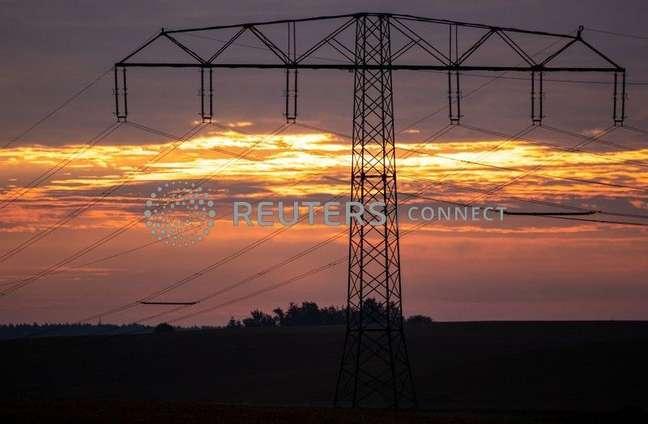 Rede elétrica na Alemanha.
