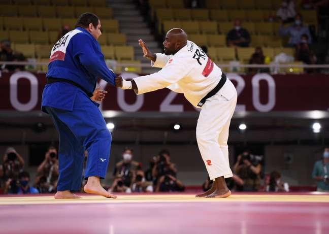 Rafael Silva foi derrotado por Teddy Riner nesta sexta-feira nos Jogos Olímpicos de Tóquio Annegret Hilse Reuters