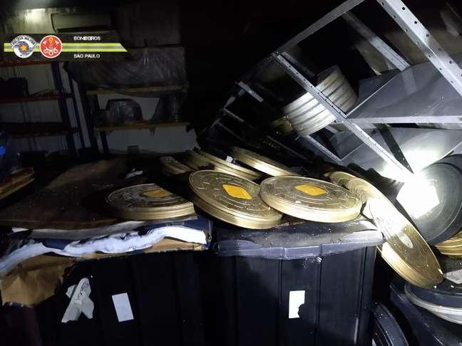 Rolos e cópias de filmes importantes foram perdidas no incêndio que atingiu cerca de 300 metros quadrados do local