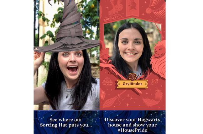 App Harry Potter Fan Club: teste o chapéu seletor