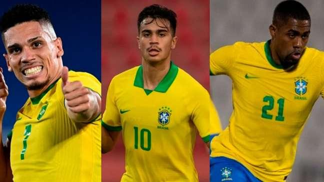 Paulinho anotou gol contra a Alemanha. Malcom e Reinier fizeram jogada para Richarlison marcar diante da Arábia Saudita (Montagem LANCE!