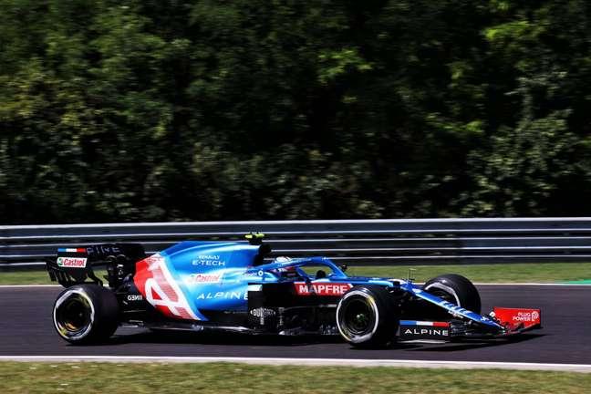 Esteban Ocon foi ao Q3 em Hungaroring