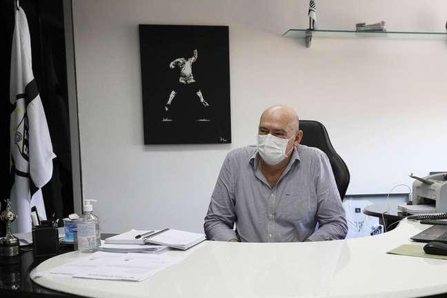O presidente Andres Rueda espera lançar o e-commerce neste ano (FOTO: Pedro Ernesto Guerra Azevedo/Santos FC)