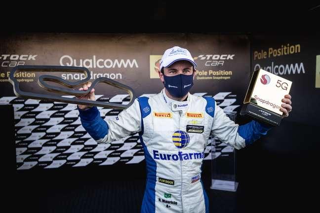 Ricardo Maurício, pole em Curitiba