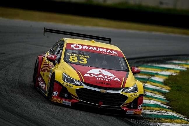 Gabriel Casagrande venceu a corrida 1 da Stock Car neste domingo em Interlagos