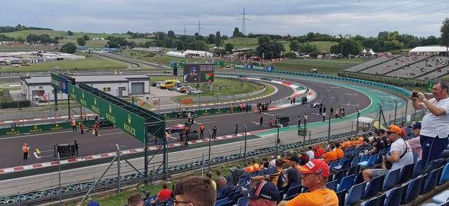 Hungaroring na manhã deste sábado de F3 e Fórmula 1