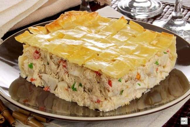 Guia da Cozinha - Torta de massa de pastel pronta em 50 minutos
