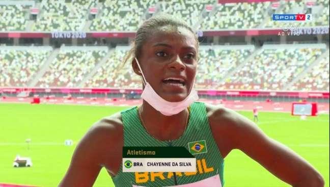 Chayenne disputou sua primeira Olimpíada (Foto: Reprodução/SporTV)