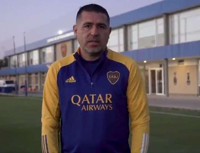 Riquelme deu fortes declarações contra o Brasil (Reprodução: vídeo Twitter Boca Juniors)