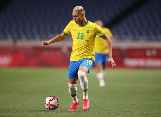 Richarlison é o artilheiro do Brasil na Olimpíada
