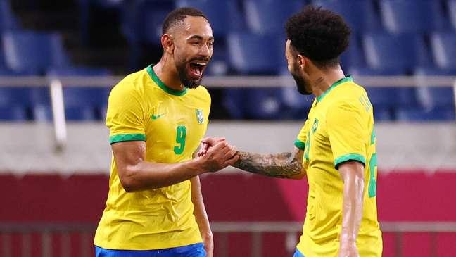 Matheus Cunha marcou para o Brasil contra o Egito