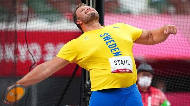 Daniel Ståhl conquistou a medalha de ouro no arremesso de disco