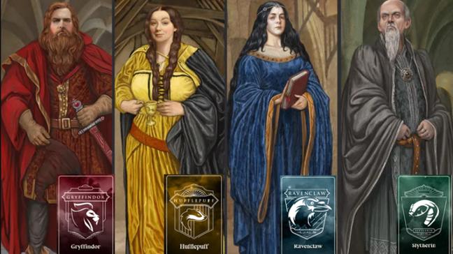 Casas de Hogwarts e seus fundadores