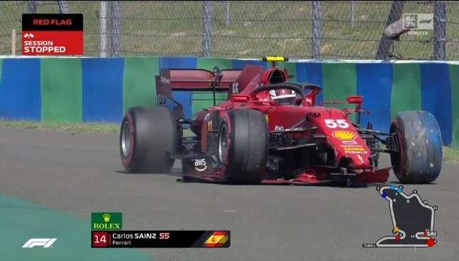 Carlos Sainz bateu no Q2 da classificação em Hungaroring